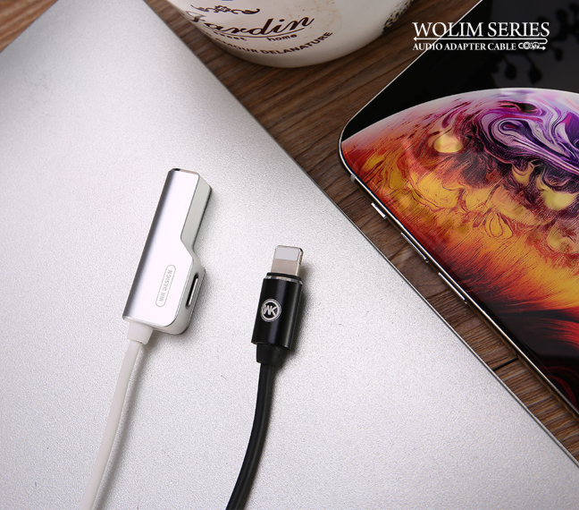 WDC-071i Wolim 2-in-1 Audio Adapter Cable (3.5mm-Apple) - i-s-mart.com | No.1 Branded Online Shop in Cambodia