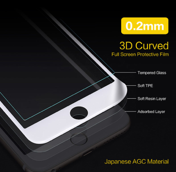 i878 X-Fitted Japanese AGC Material 3D Curved Edge Printed Tempered Glass - i-s-mart.com | No.1 Branded Online Shop in Cambodia