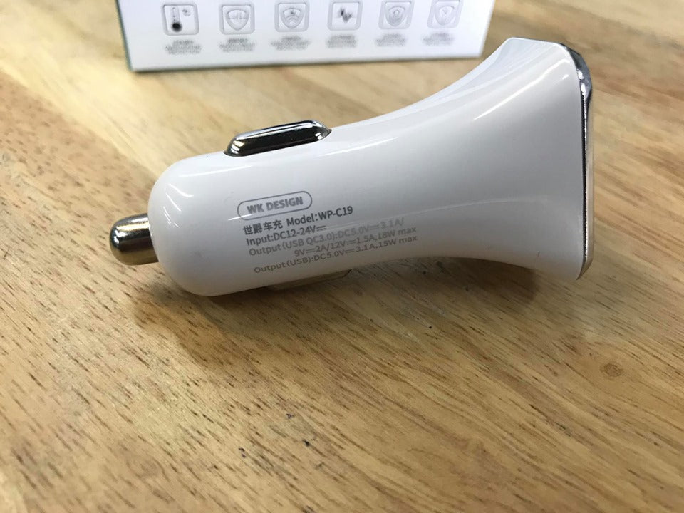 WP-C19 Sigee Series Car Charger QC3.0 + USB3.1A - i-s-mart.com | No.1 Branded Online Shop in Cambodia