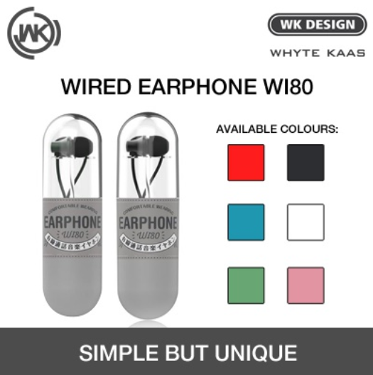 Wi80  Wired Earphone - i-s-mart.com | No.1 Branded Online Shop in Cambodia