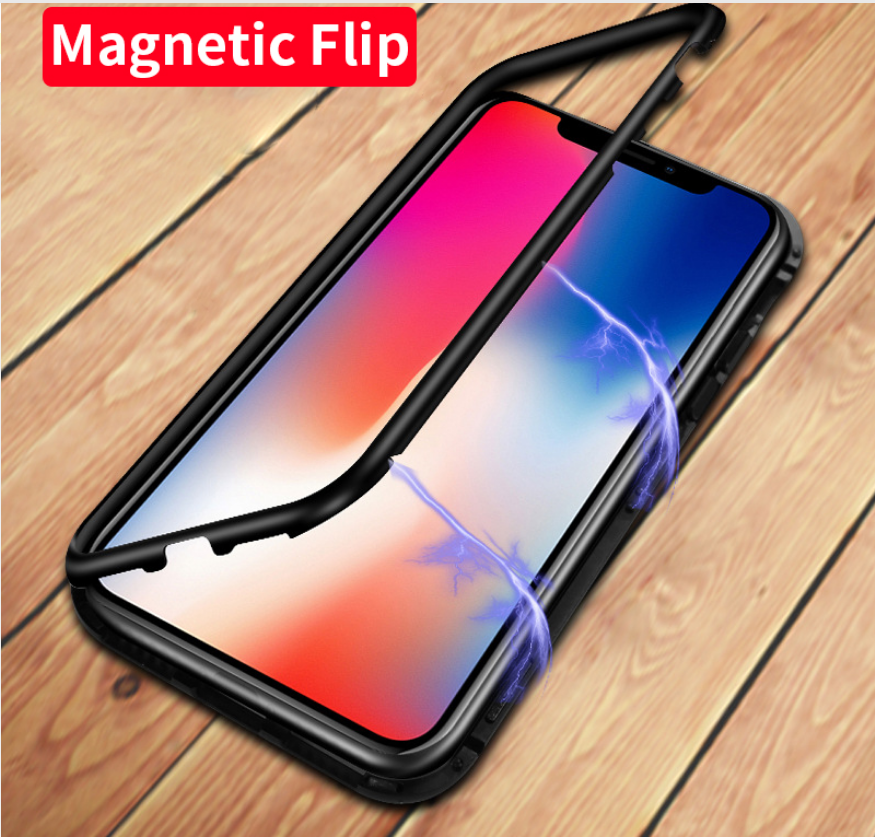 i1004 Luxury Magnetic Absorption Case with Tempered Glass Back - i-s-mart.com | No.1 Branded Online Shop in Cambodia