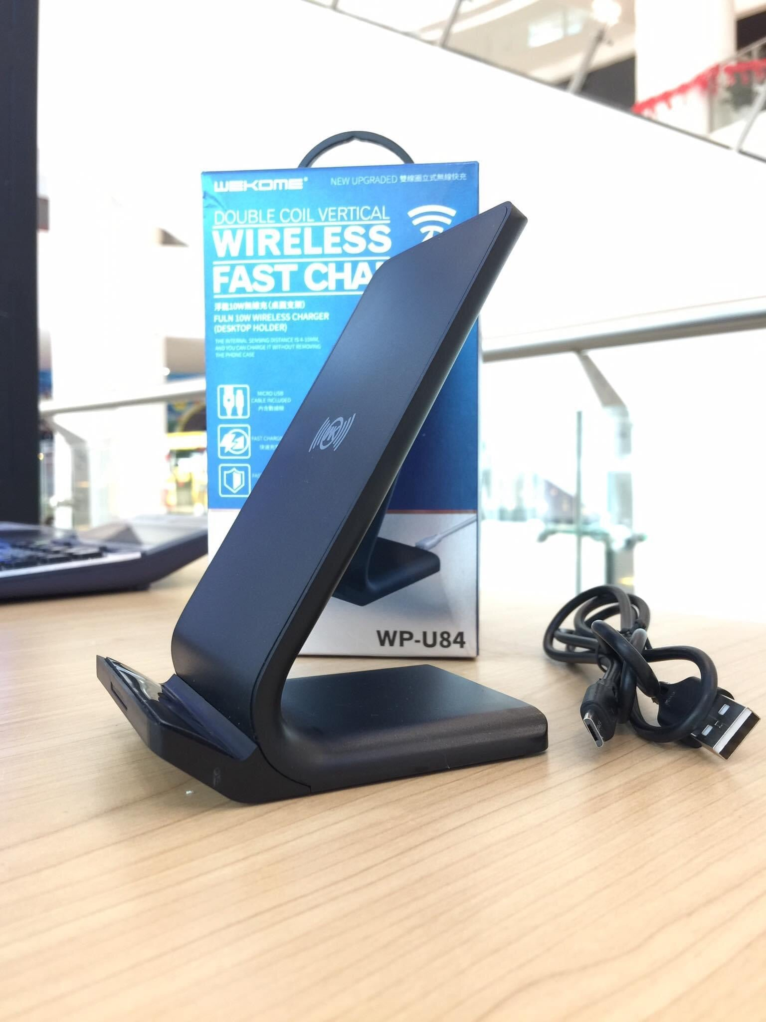 WP-U84 Double Coil Vertical Wireless Fast Charger