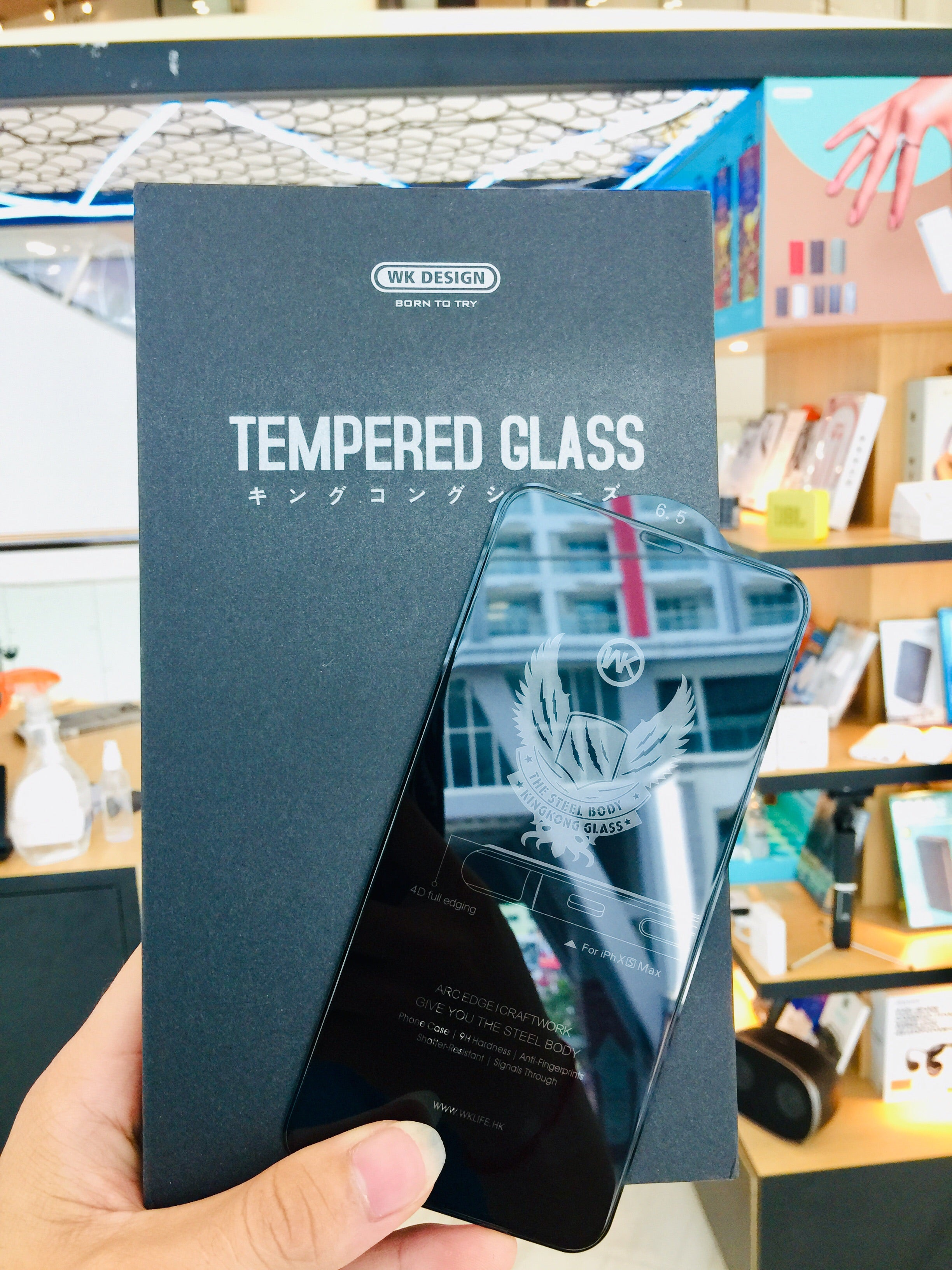 WTP-010 Kingkong 4D tempered Glass full Screen Protector For iPhone