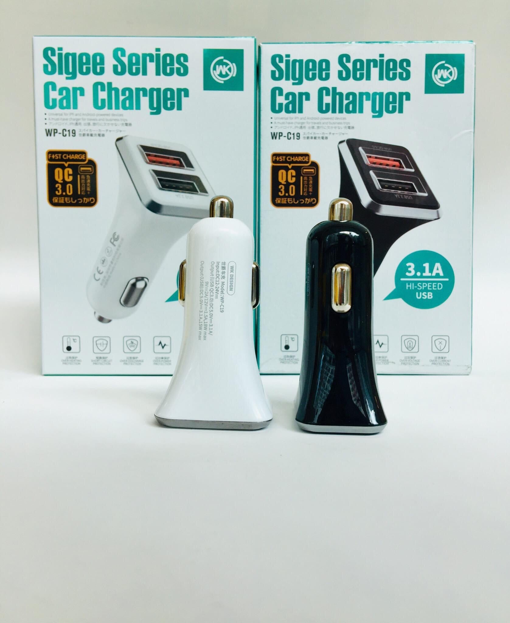 WP-C19 Sigee Series Car Charger QC3.0 + USB3.1A