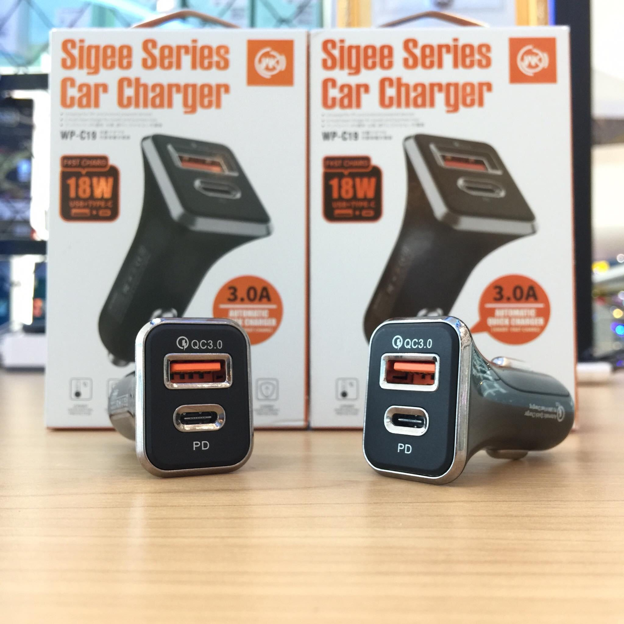 WP-C19 (QC3.0+PD)18W Max Sigee Car Charger