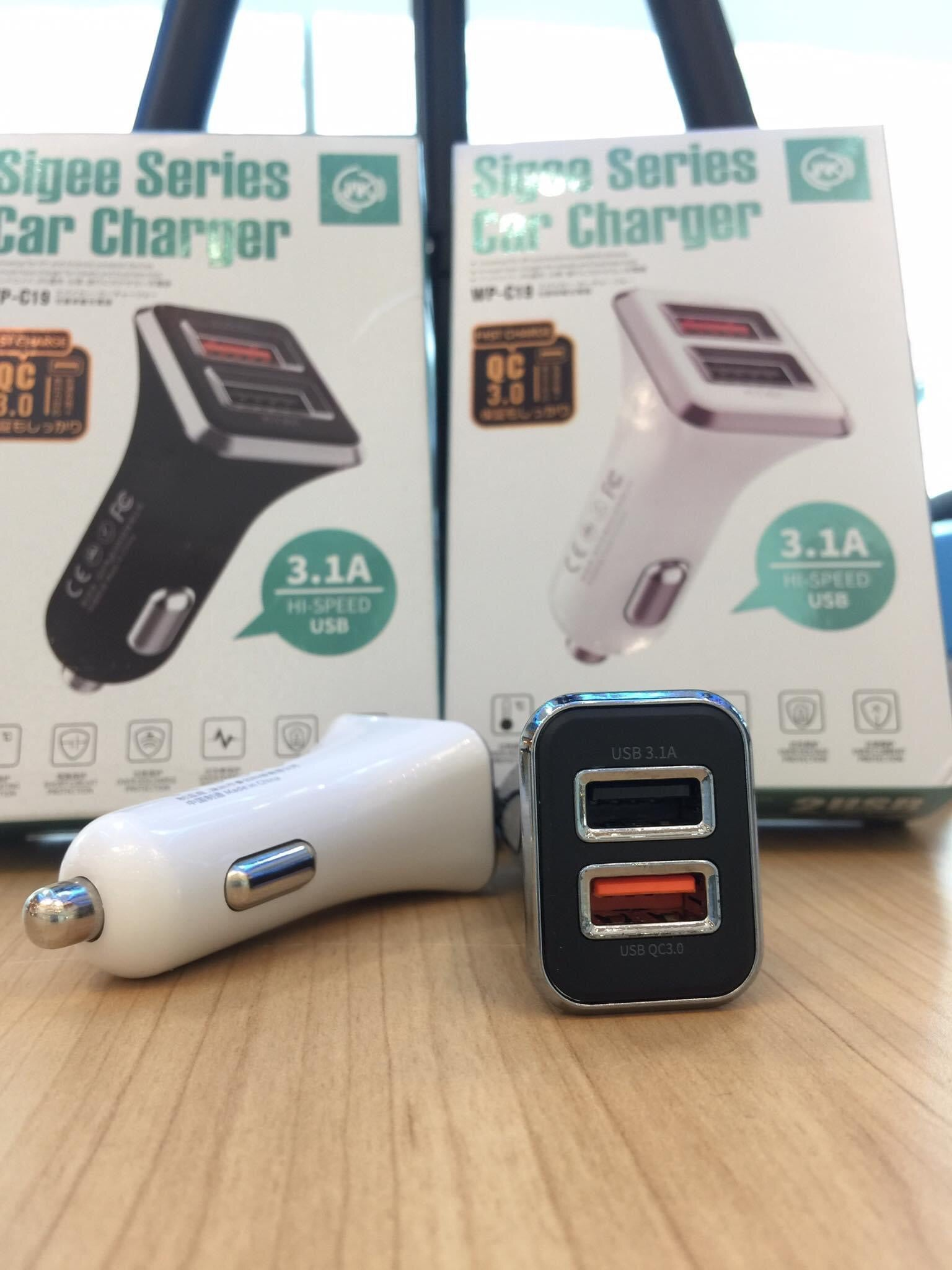 WP-C19 QC3.0+USB3.1A Sigee Series Car Charger