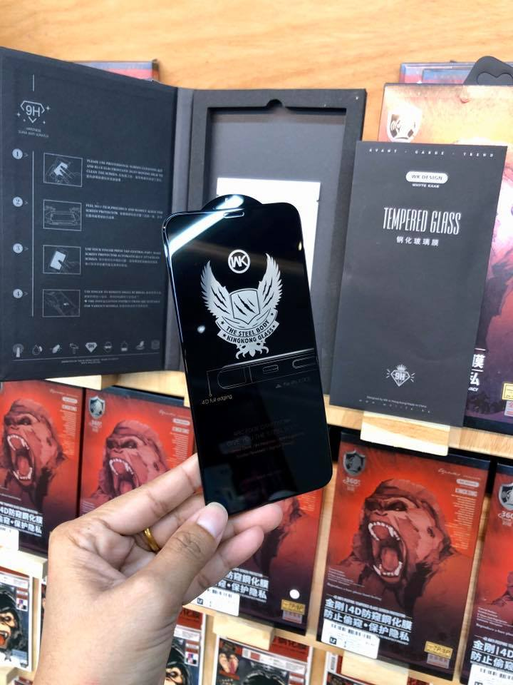 WTP-012 Kingkong  4D tempered glass full Screen Protector For iPhone (Privacy)
