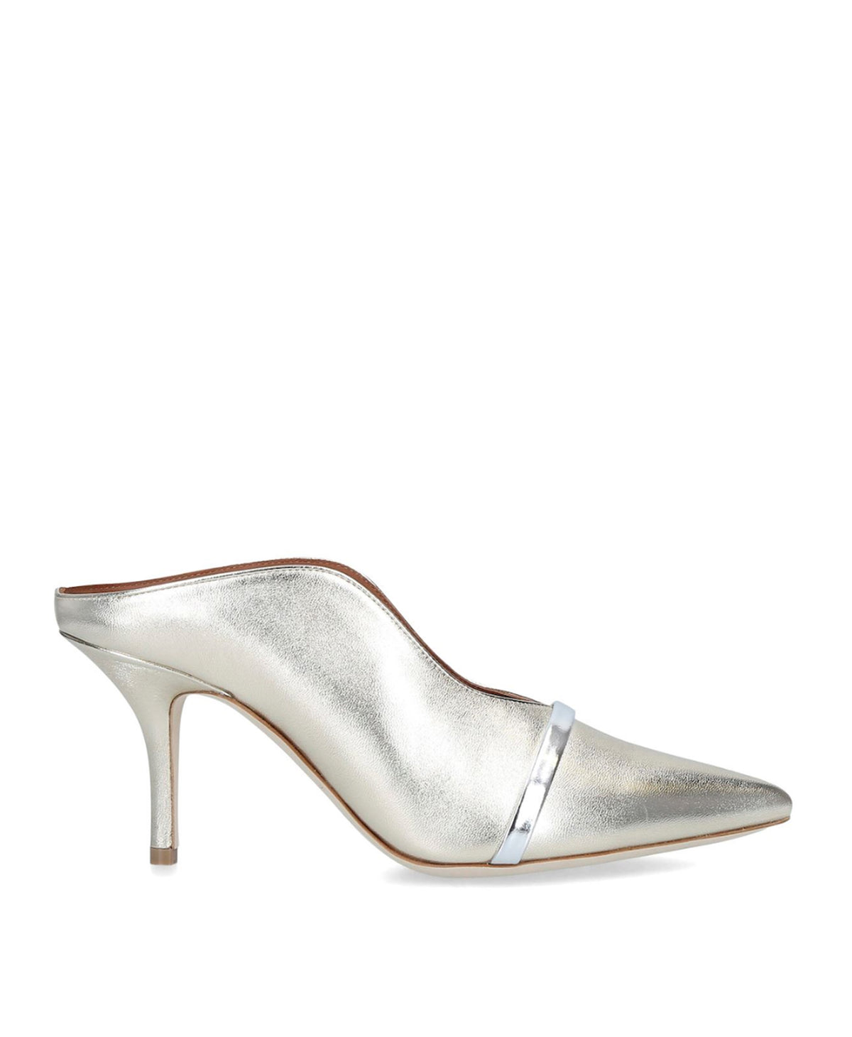 CONSTANCE 70mm - Platino Metallic Silver Mirror Leather