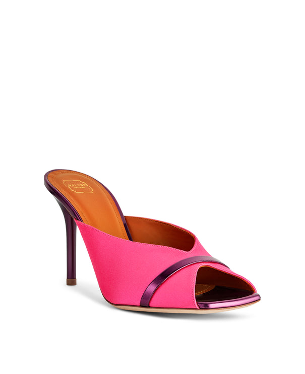 Women's Designer Shoes in Pink Satin With Stiletto Heel Malone Souliers