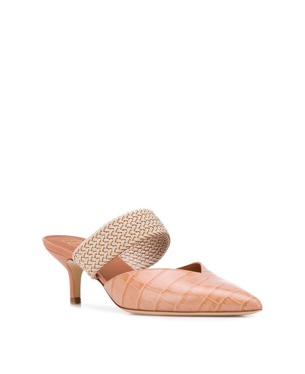 Maisie 45mm - Nude Croc Printed Leather
