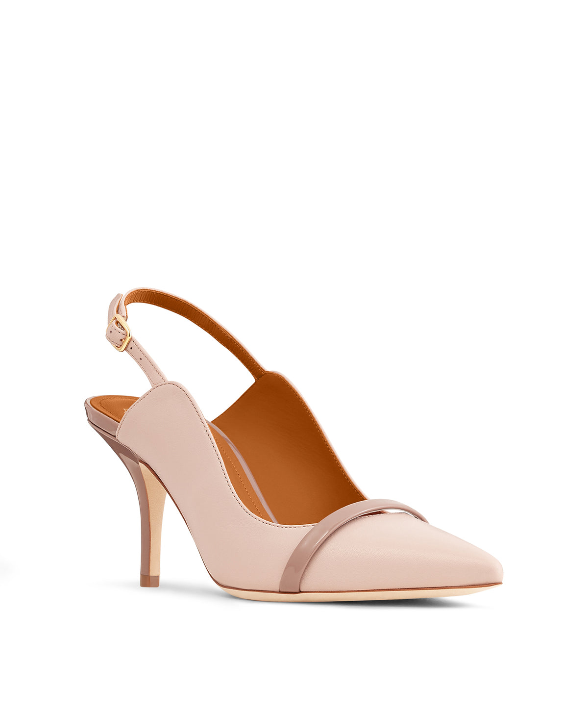Marion 70mm - Dusty Rose Nappa Brown Patent