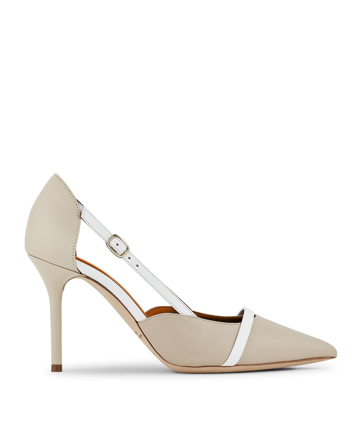 Women's White Leather Pumps With Stiletto Heel Malone Souliers