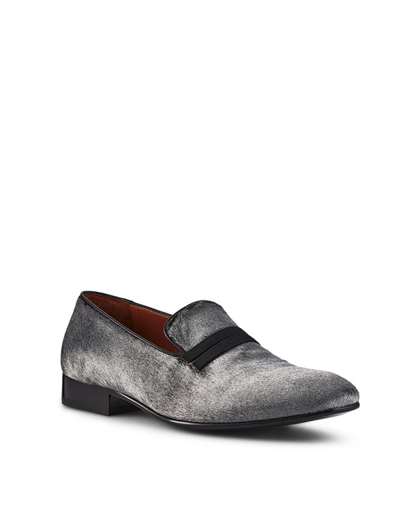 Men's Ponyskin Calf Hair Silver Loafers Malone Souliers