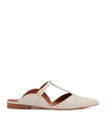 Women's Cream Leather Flat Mules Malone Souliers