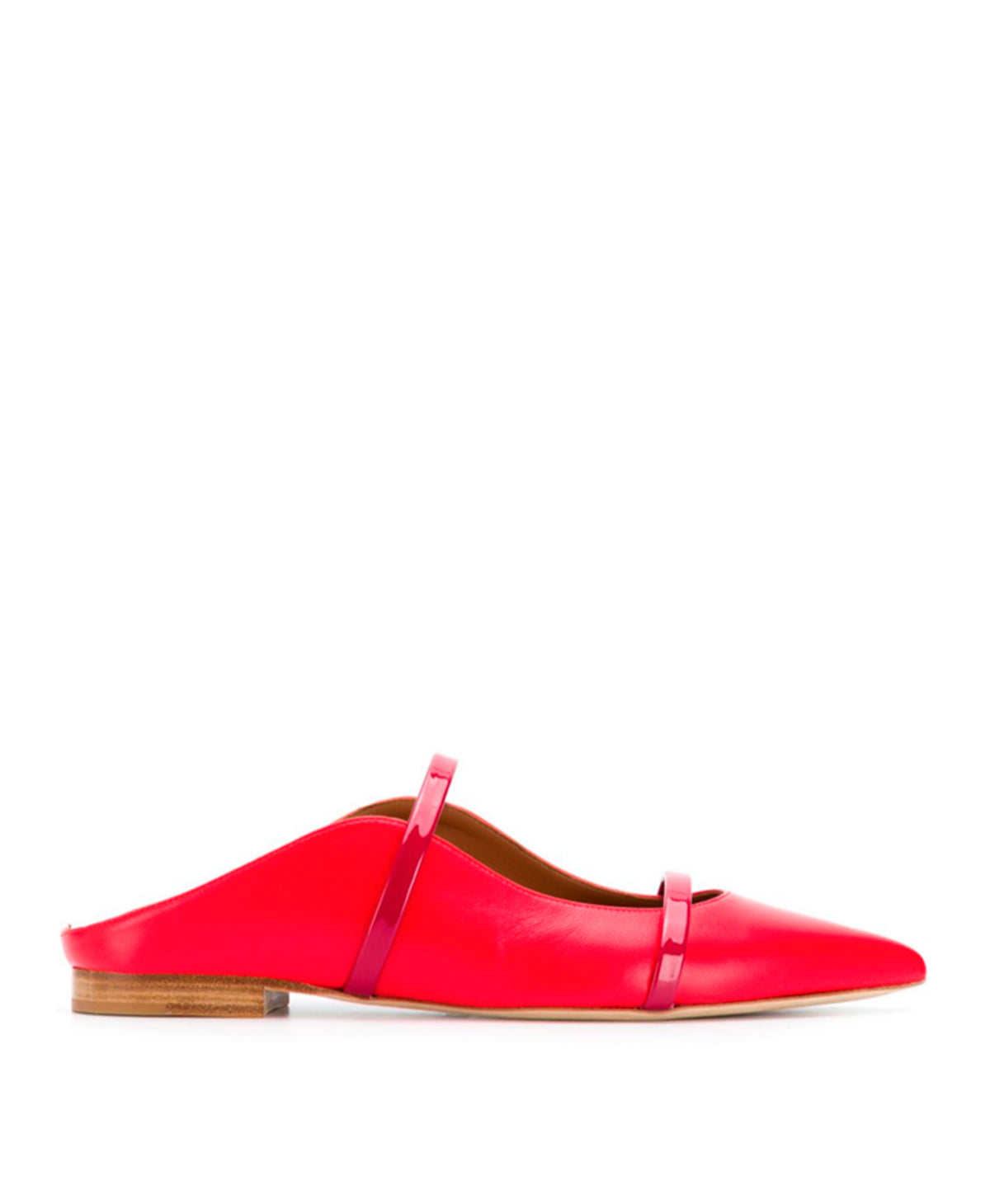 MAUREEN FLAT - Red Nappa Burgundy Patent