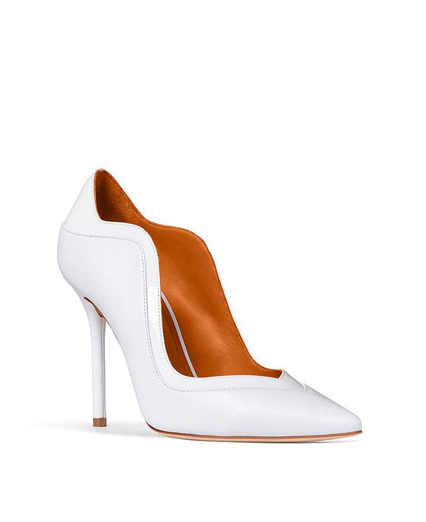 Penelope 100mm - Off-White Nappa White Patent