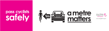 share the road with cyclists - a meter matters