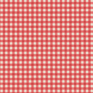 Lewis & Irene Red rustic gingham A213.3