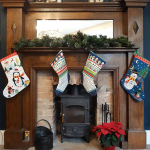 Stocking -Multi Father Christmas