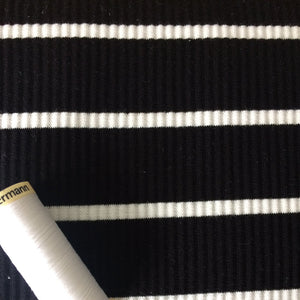 Ribbed black and white stripe Jersey