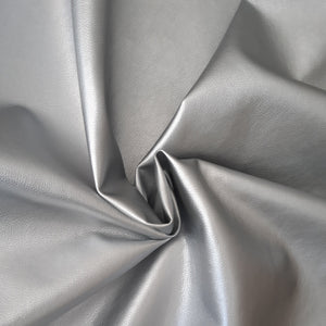 Faux Leather Silver