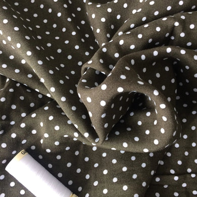 Small polka dot Viscose - Moss green