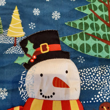 Load image into Gallery viewer, Stocking - Snowman with gold stitching