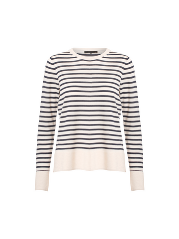 Smilla Shirt - Stripe Birch/Marine