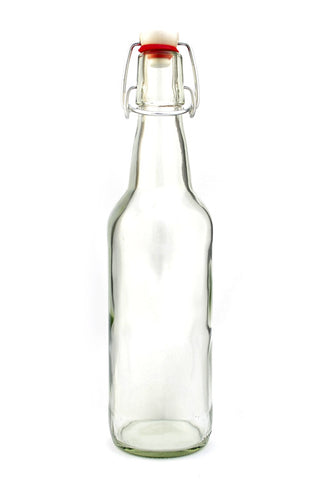 500mL Clear Swing-Top Bottles