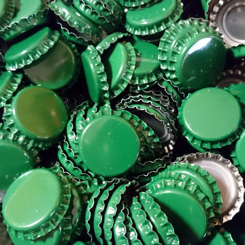 Crown Bottle Caps, Green