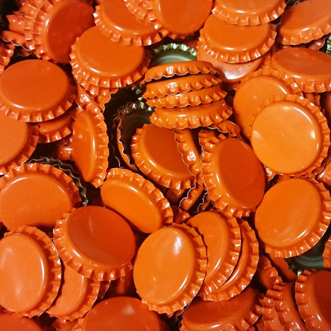 Crown Bottle Caps, Orange