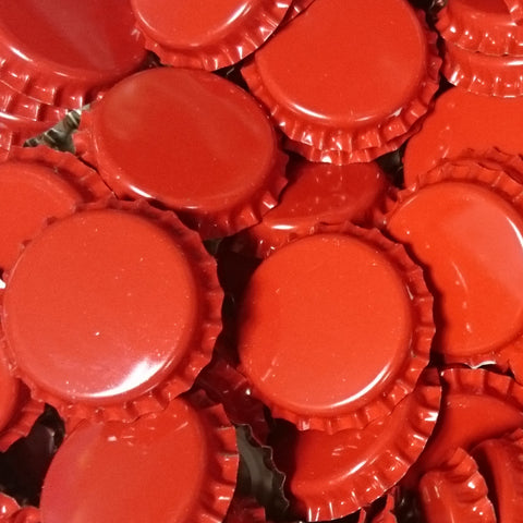 Crown Bottle Caps, Red