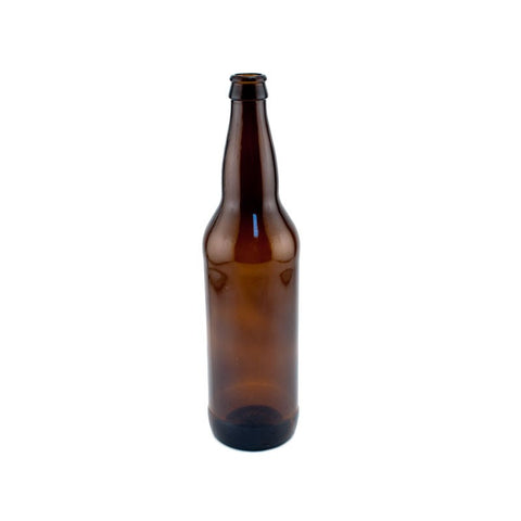 12 x 650mL Amber Glass Bottles