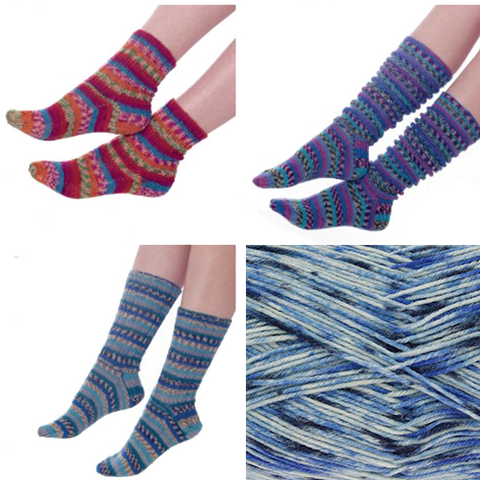 sock knitting kit king cole zig zag