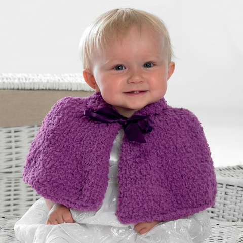 Cuddles Chunky Girl's Cape Knitting Kit