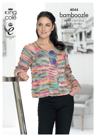 King Cole Bamboozle Women's Cardigan Knitting Kit
