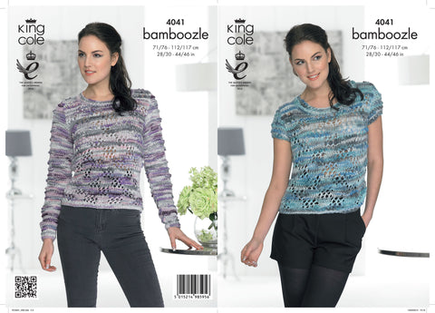 King Cole Sweater and Top Chunky Bamboozle Pattern 4041