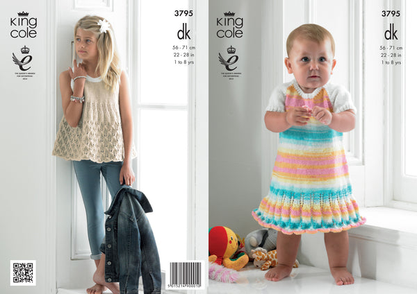 King Cole Smock Top and Dress DK Pattern  3795
