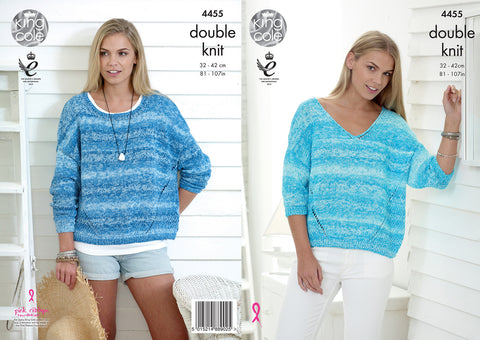 King Cole Ladies Sweaters Vogue DK Pattern 4455