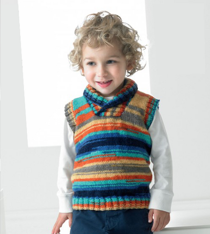 Child's Slipover Tank Top Pullover Knitting Kit