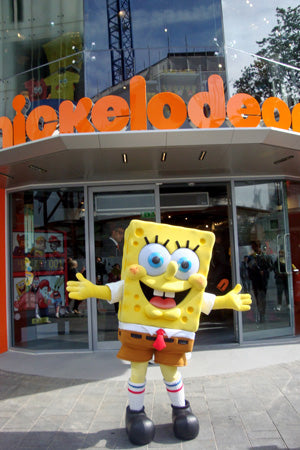 Spongebob outside store