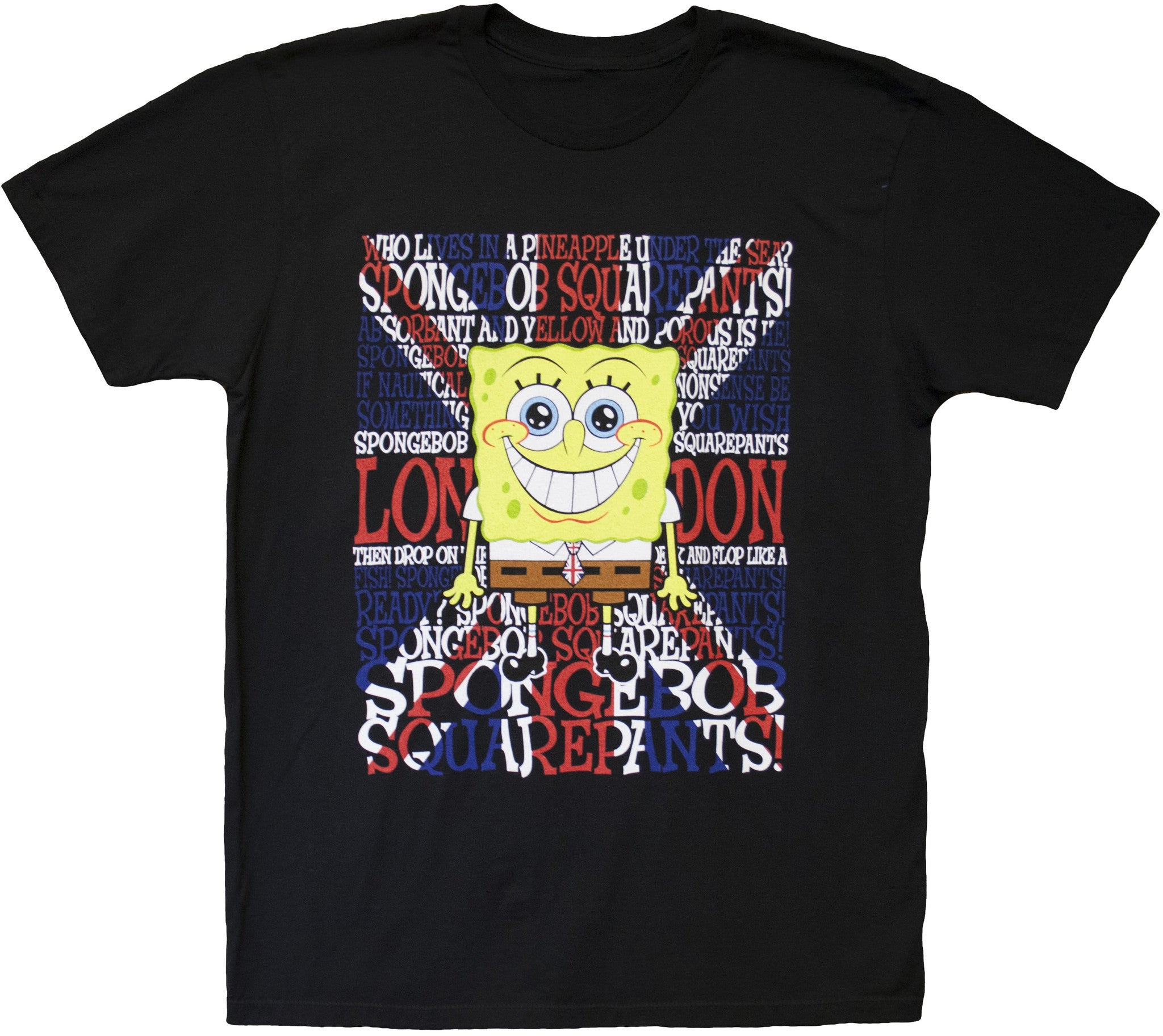"SpongeBob SquarePants ""Union Jack"" Tee - Mens"