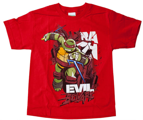"Teenage Mutant Ninja Turtles Raphael ""Evil Beware"" Tee - Youth"