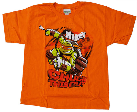 "Teenage Mutant Ninja Turtles Michelangelo ""Chuck This Out"" Tee - Youth"