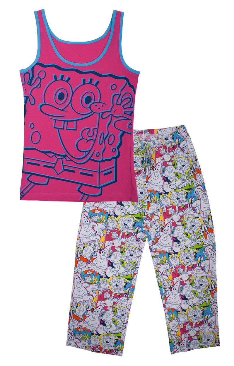 SpongeBob SquarePants colorful ladies 2 piece pyjama set