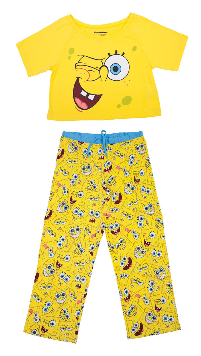 SpongeBob SquarePants faces ladies 2 piece set