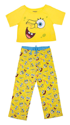 "SpongeBob SquarePants ""Faces"" 2pc Set - Ladies"