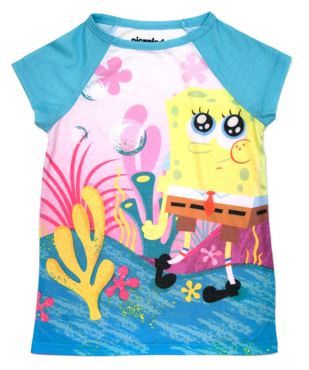 "SpongeBob SquarePants ""Beachy"" Raglan Tee - Girls - nickelodeonstore.co.uk"