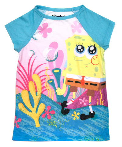 "SpongeBob SquarePants ""Beachy"" Raglan Tee - Girls"