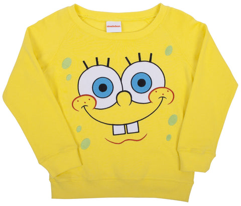 SpongeBob SquarePants Big Face Fleece Sweatshirt - Girls